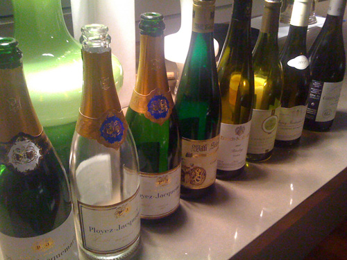 Selection of Wines presented at the Steves Fine Wine European Wine Dinner