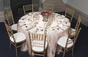 Candelabras for Hire, chair covers for hire